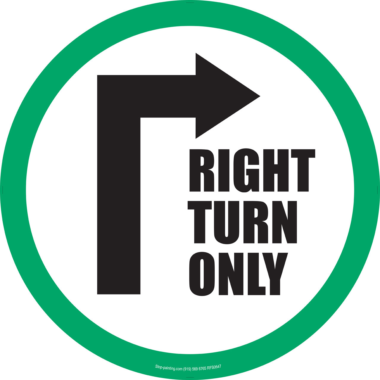 right turn only floor sign 175quot