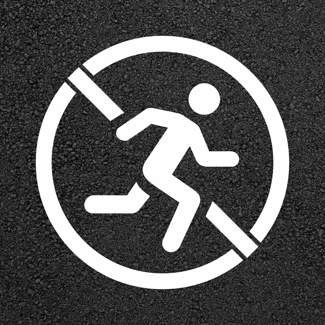 No Running Safety Stencil   Stop-Painting