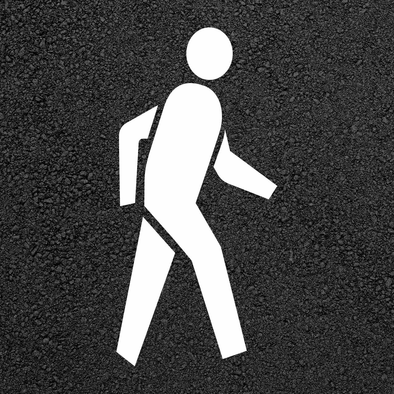 Pedestrian Crossing Symbol Stencil   Stop-Painting