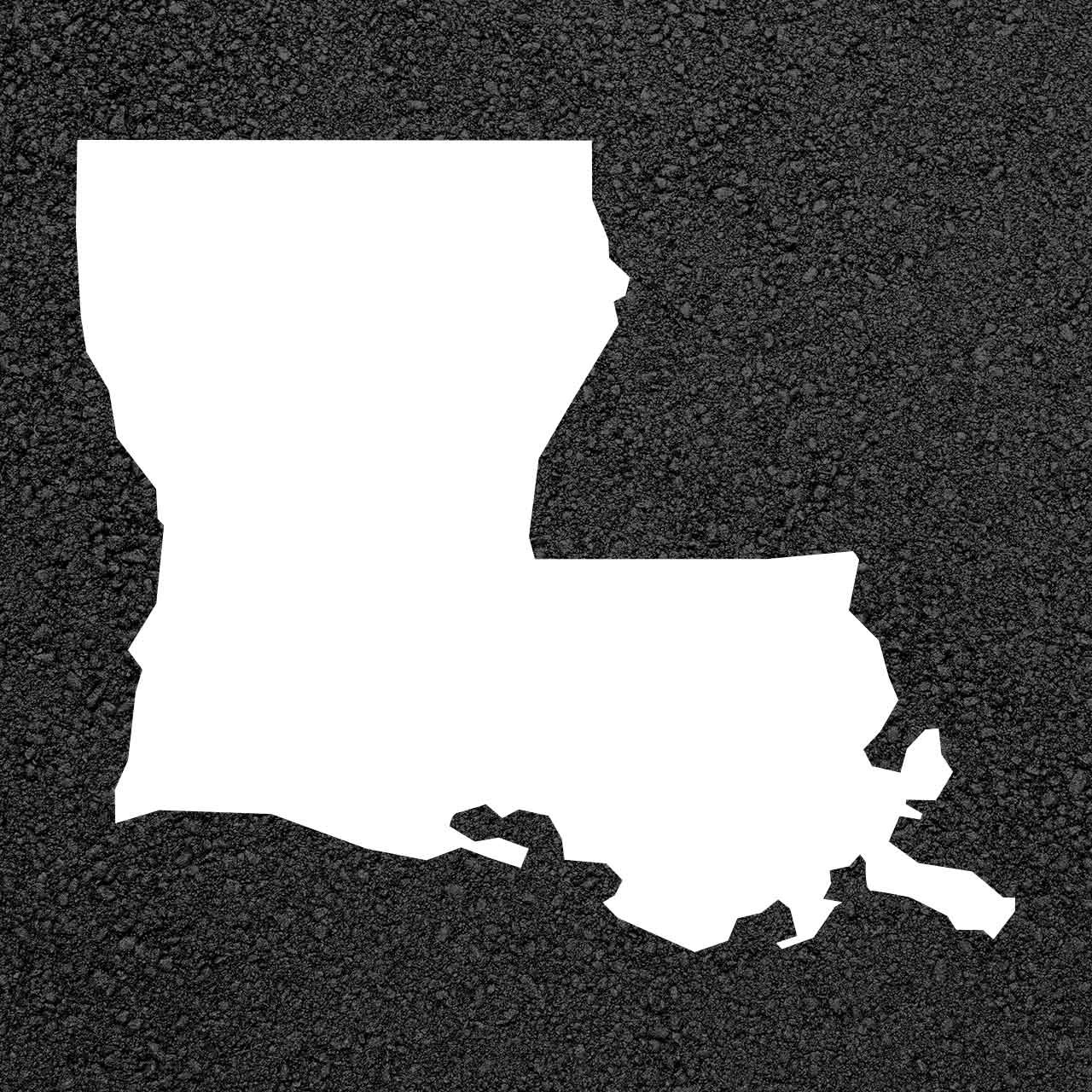 Louisiana State Map Stencil | Stop-Painting.com