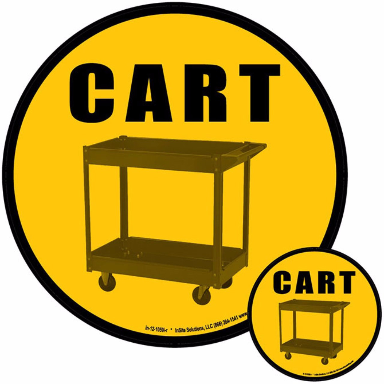 Cart Floor Sign 5s Identification Systems