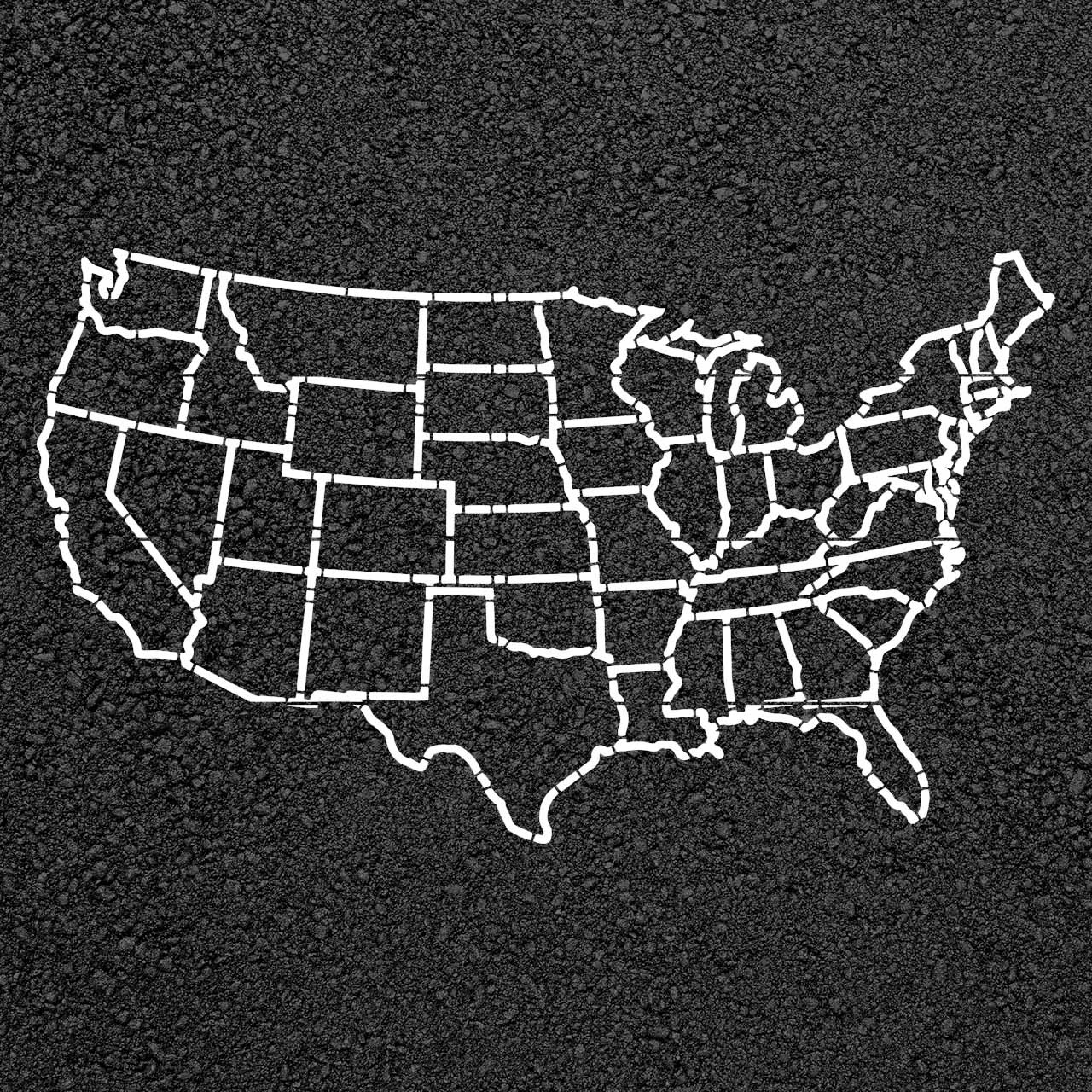 United States Map Stencil StopPainting