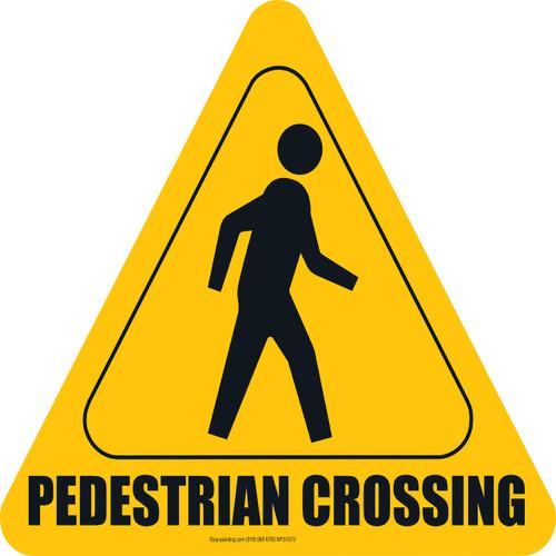 Pedestrian Walkway Floor Sign - Yellow   Stop-Painting.com