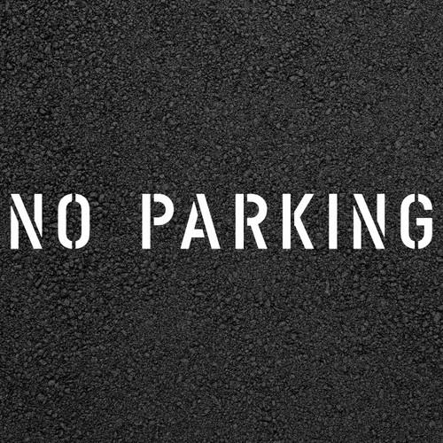 No Parking Stencil   Stop-Painting.com