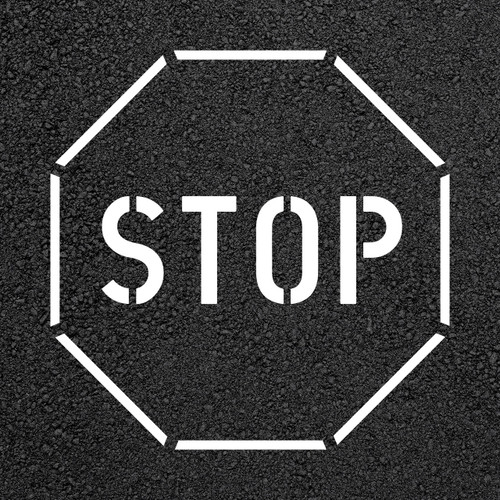 Stop Sign Stencil   Stop-Painting