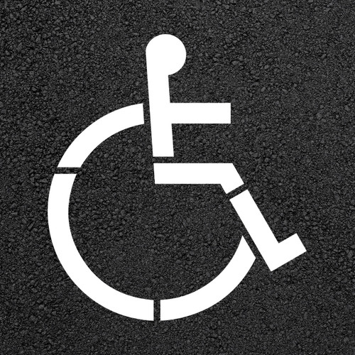 Walmart Handicap Parking Lot Stencil   Stop-Painting