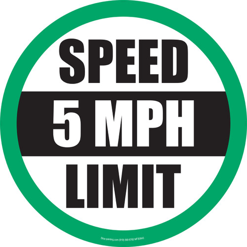 5MPH Speed Limit Floor Sign   Stop-Painting.com