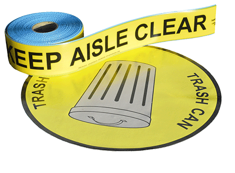 Keep Aisle Clear Tape