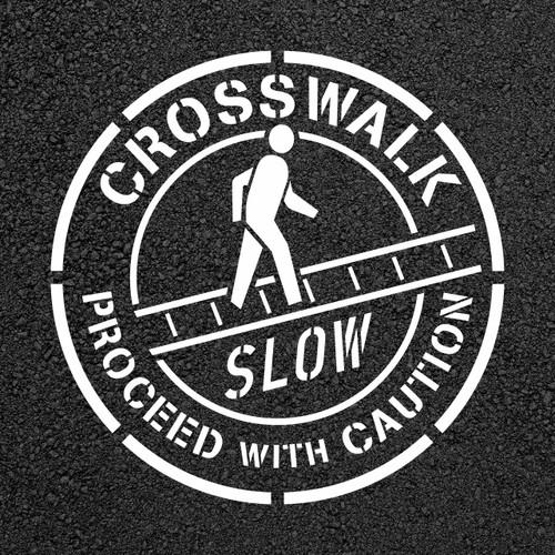 Crosswalk Pedestrian Floor Stencil   Stop-Painting.com