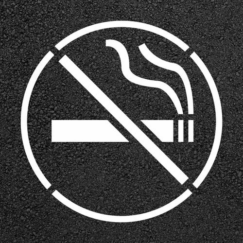 No Smoking Stencil   Stop-Painting.com