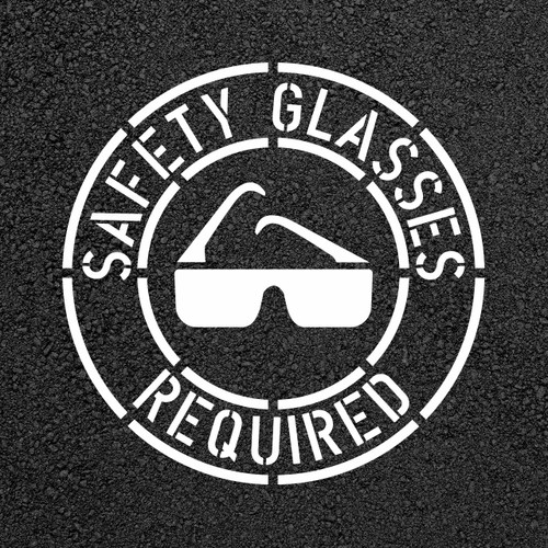 Safety Glasses Required Stencil Stop Painting Com