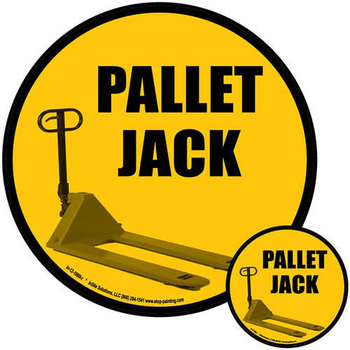Pallet Jack Floor Sign Identification Systems Stop