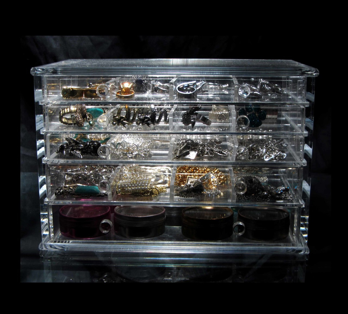 Luxury Acrylic 5Drawer Jewelry Storage Organizer Box sku 5692