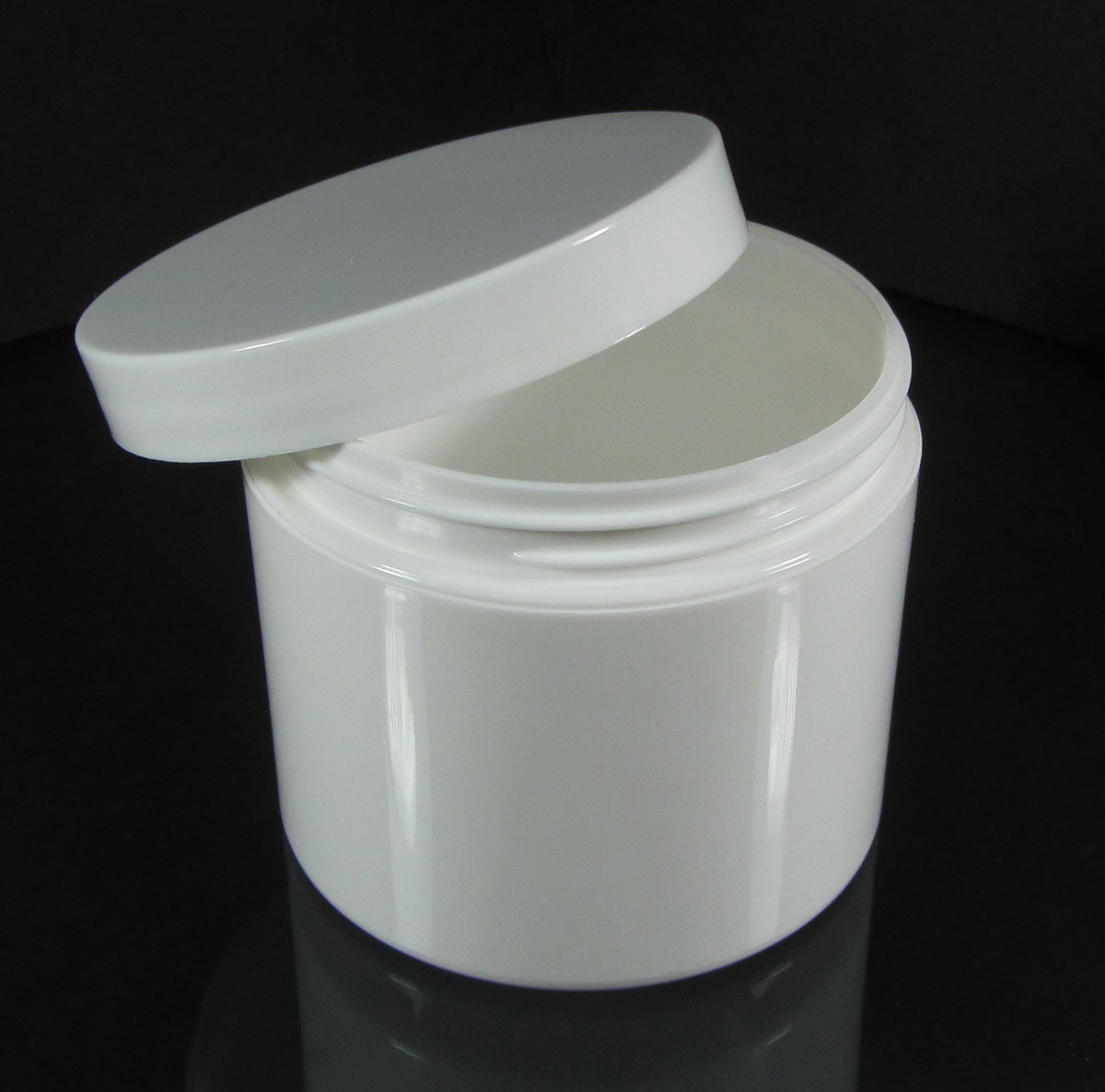 Beauty Containers Double Wall Plastic White Jars 4 oz White