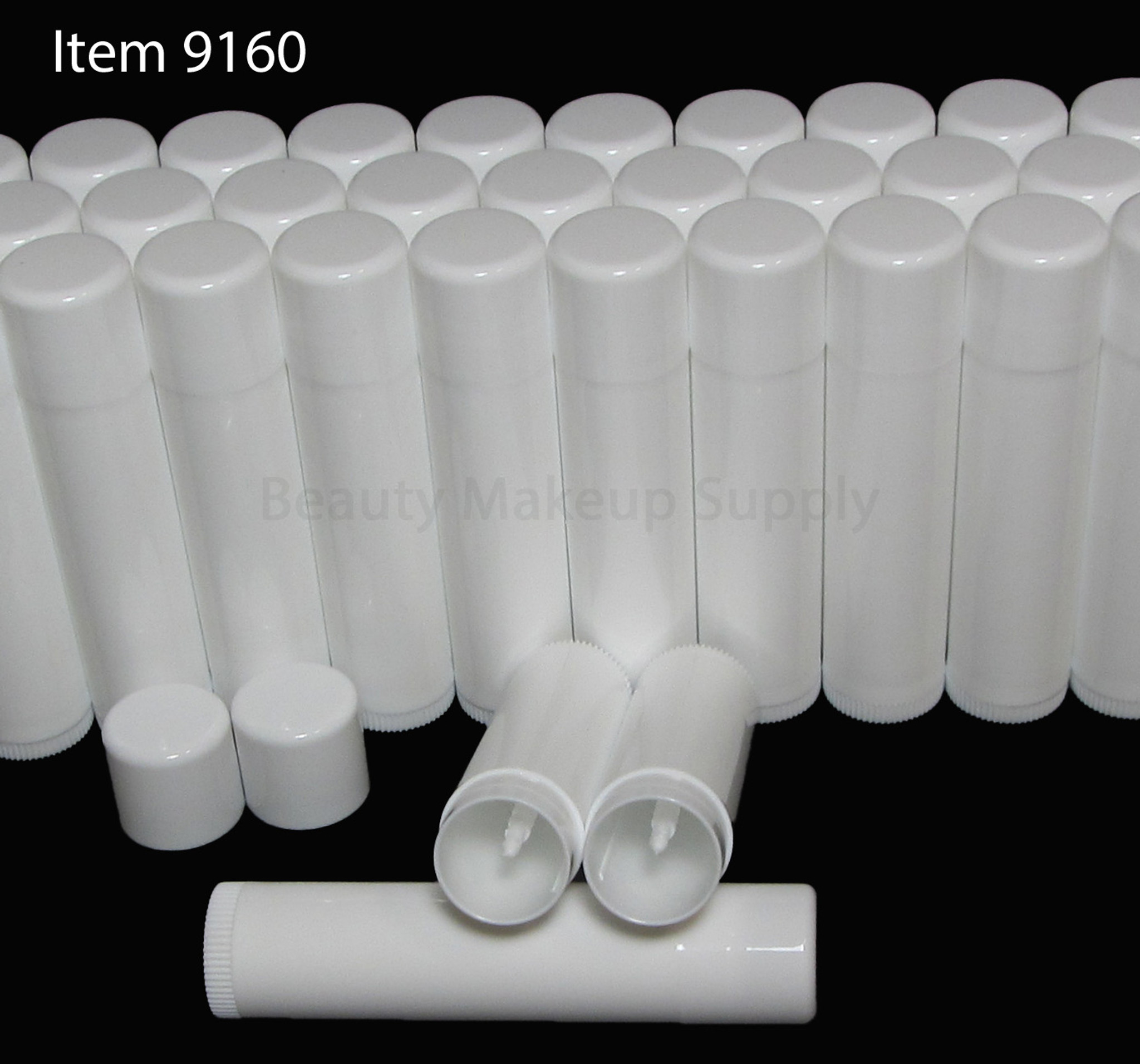 White Rounded Edge Lip Balm Tubes - New Product at Beauty Makeup Supply