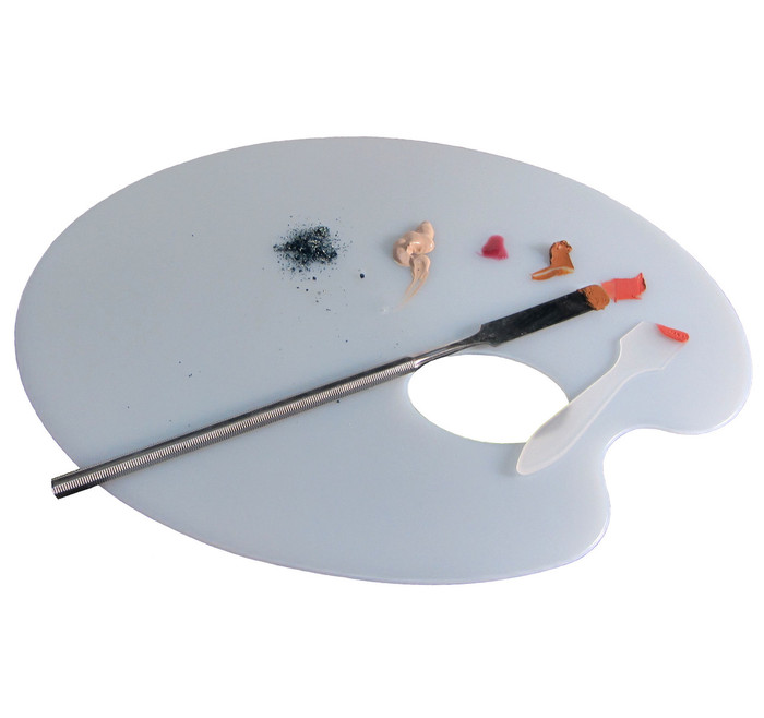 Cosmetic Mixing Palette Plastic Artist Makeup Tool (White) - sku# 5082