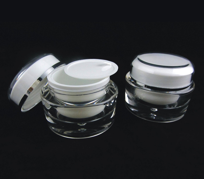 Acrylic Cosmetic Beauty Containers Cream Jars w/ Sealing Disc - 30ml - sku# 3130