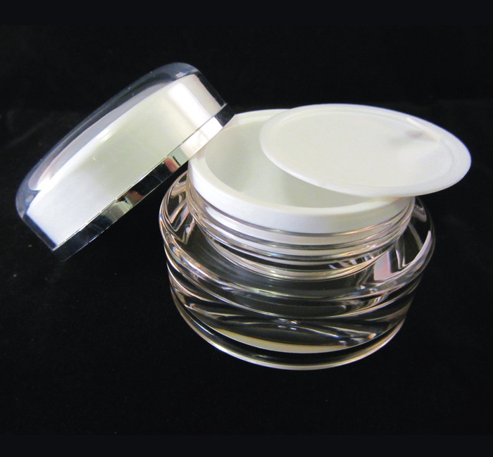Acrylic Cosmetic Beauty Containers Cream Jars w/ Sealing Disc - 15ml - sku#3115
