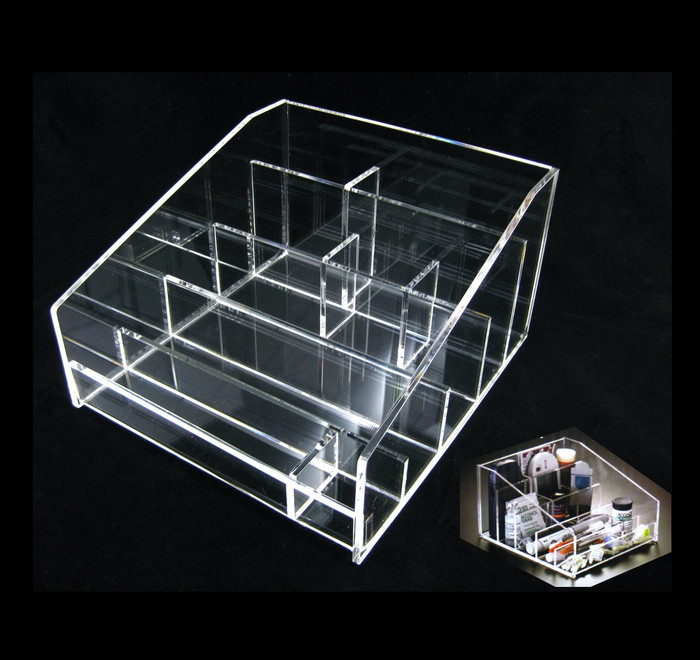 Acrylic Diabetic Testing Instrument & Supplies Storage Tray Organizers - sku# 5671