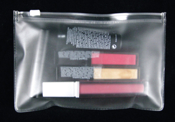 Clear View Plastic Cosmetic Pouch Travel Makeup Bag * Buy One Get One Free *