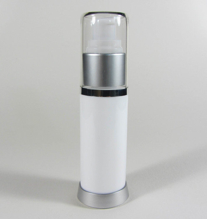 Airless Pump Lotion Serum Treatment Refillable Bottles - 30 ml / 1 oz. (White)