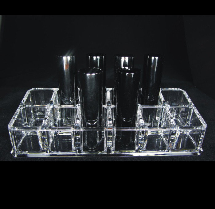 Acrylic Makeup Organizer. 12 slot cosmetic Holder - sku# 5636