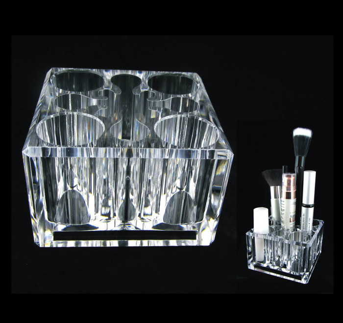 Acrylic Cosmetic Organizer Luxury Square Makeup Holder - sku# 5654