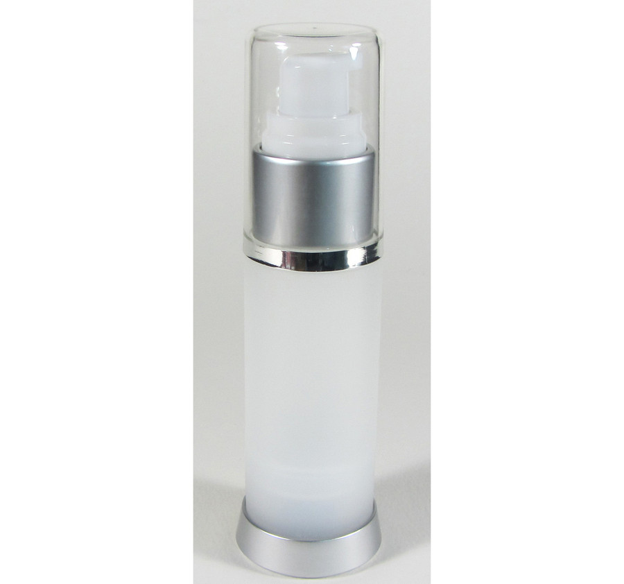 Airless Pump Lotion Serum Treatment Refillable Bottles - 30 ml / 1 oz. (Frost)