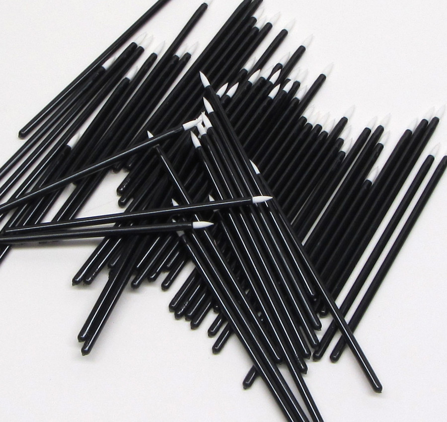 Disposable Eyeliner Applicators White Tip Dip Stick Stiff Liquid Liner Wands - sku# 5034