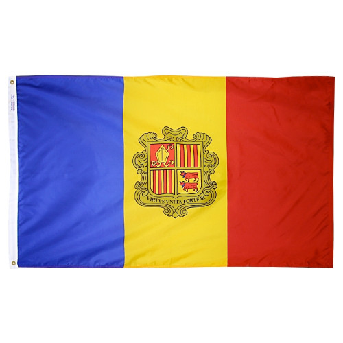 Andorra - Outdoor Flag with heading & grommets