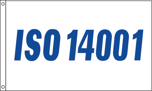ISO 14001 Flag - Blue Design