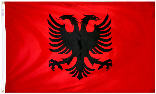 Albania - Outdoor Flag with heading & grommets