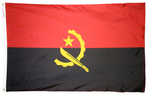 Angola - Outdoor Flag with heading & grommets