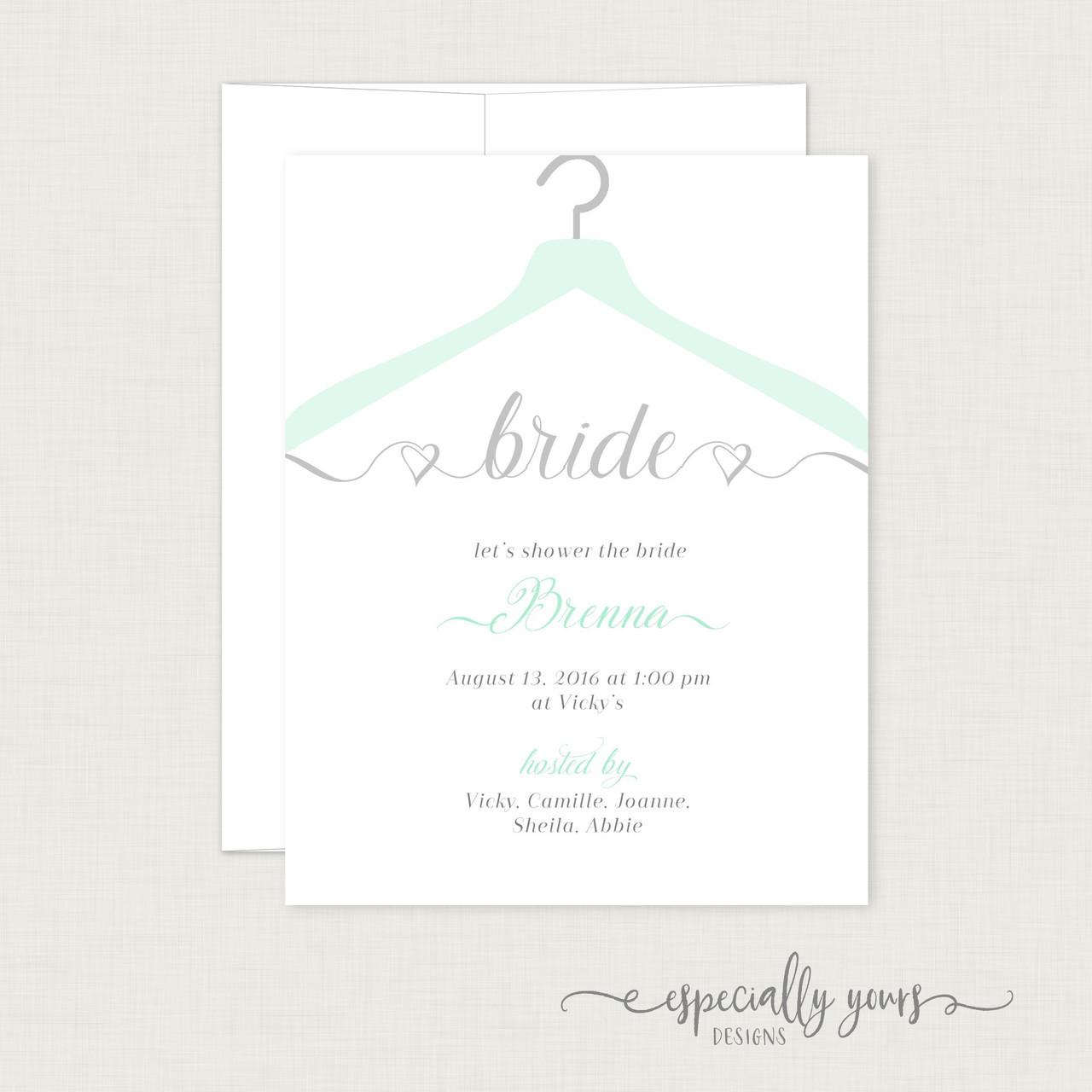 Bridal Hanger Bridal Shower Invitation - Especially Yours Designs