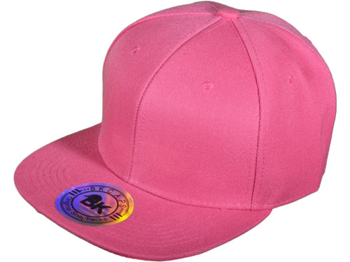 82d650c8 ... Blank Snapback Hats - BK Caps Flat Bill Plain Snapbacks with Same Color  Underbill - 3003 ...