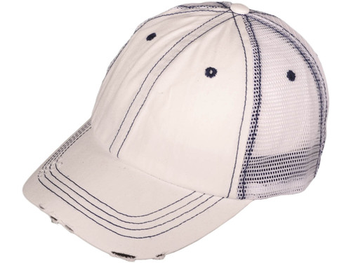 db53980b ... Distressed Trucker Hats - Low Profile Unstructured Washed Cotton Blend  Twill Mesh BK Caps (19 ...