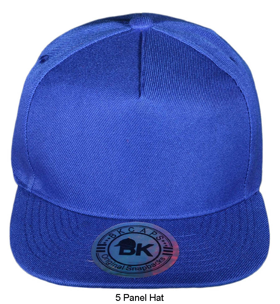 bk-caps-cotton-flat-bill-blank-plain-5-panel-snapback-hats-same-color-underbill-2077-royal-blue-1-copy.jpg