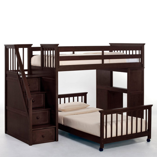 Schoolhouse Stair Loft Bed