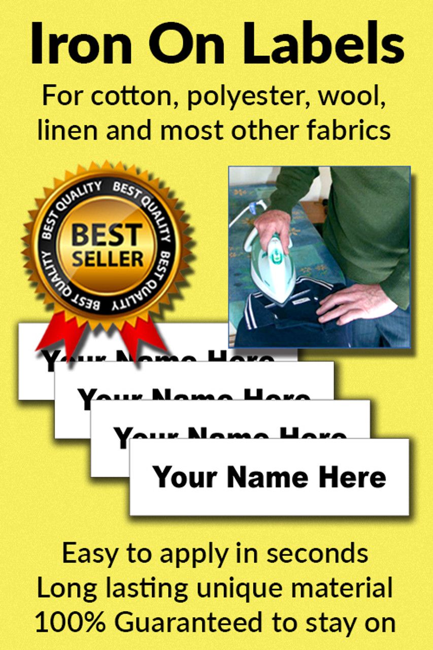 Name It Labels Iron On Clothing Come Pre Cut To 50mm X 13mm And