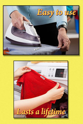 Name It Labels iron on clothing labels are easy to apply. No transfer paper is needed. Iron straight on to them with a hot dry iron (no steam).
