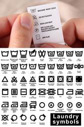 Custom made care labels