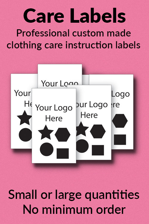 Custom Care Labels And Tags For Clothes And Garments From