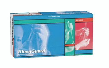 KleenGuard G10 Blue Nitrile Gloves (Large): 57373