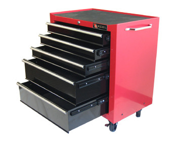 Five Drawer Roller Cabinet (Red or Black)