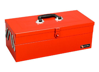 Cantilever Metal Toolbox (3 Trays - Red)
