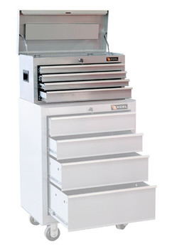 Four Drawer Metal Tool Chest (Silver)