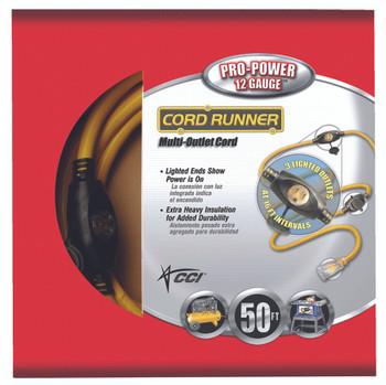 CordRunner Vinyl Multiple Outlet Cords (50 ft.): 09003