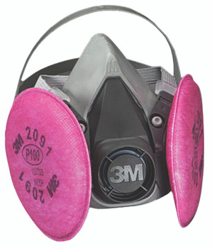 6000 Series Half Facepiece Respirator Assemblies (Medium): 6291