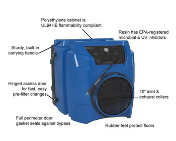 Abatement Products Portable Air Scrubber: PRED600 1