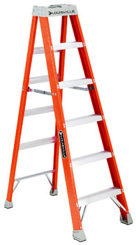 Louisville FS1500 Series Fiberglass Step Ladders: Choose Size